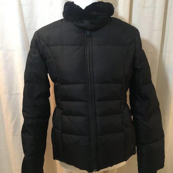 Nine West Ski Coat Puffer Faux Fur Collar